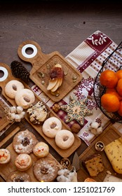 Christmas treats with biscuits and cheese
