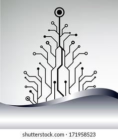 christmas tree background. bitmap