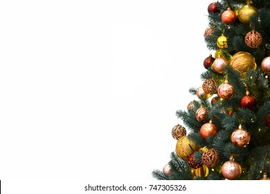 Christmas tree background with empty white space