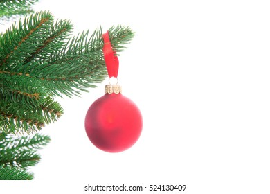 Christmas Tree with ball isolated