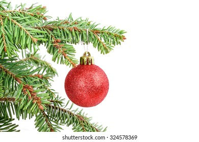 Christmas tree ball Isolated on white background