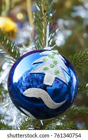 Christmas tree ball as new year decoration