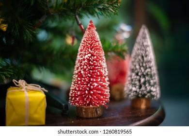 christmas tree and box
