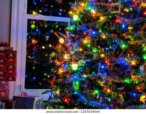 Christmas Bubble Lights.Christmas Tree Bubble Lights Stock Photo Edit Now 1265634664