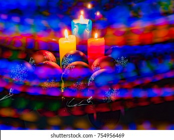 christmas tree candles colorful lights backplane illumination holiday mood bright background