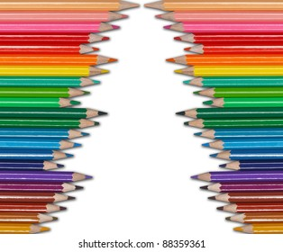 christmas tree - color pencils
