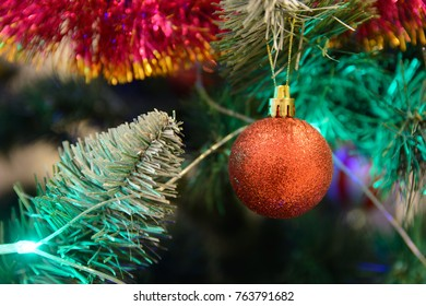 Christmas tree with colored balls