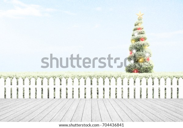 Christmas Tree Colorful Balls Golden Star Stock Photo Edit Now
