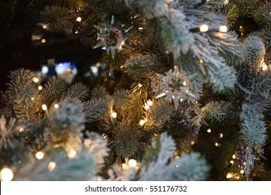 Christmas Tree with cristal and light, X-mas
