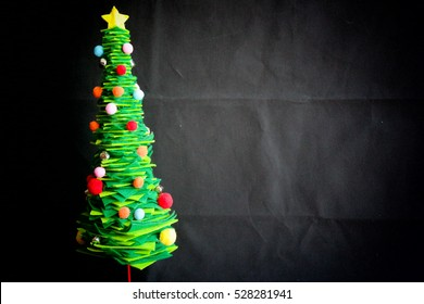 Christmas tree with dark background