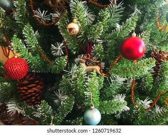 Christmas tree with decorated things