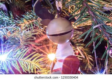 Christmas tree decoration closeup