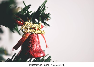 Christmas tree decoration with festival of happiness