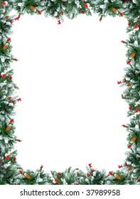 Christmas Tree Decoration frame.