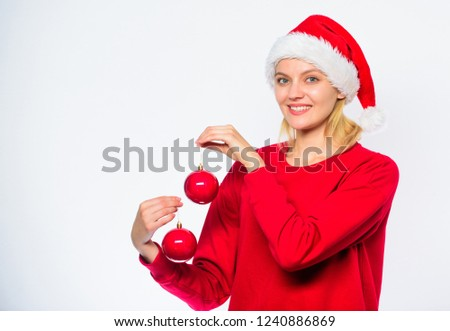 Christmas Tree Decoration Ideas Woman Wear Stock Photo Edit Now