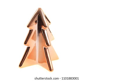 christmas tree decoration isolated on the white background