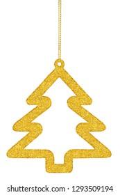 Christmas tree decoration isolated on white background