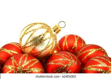 Christmas tree decoration isolated on white