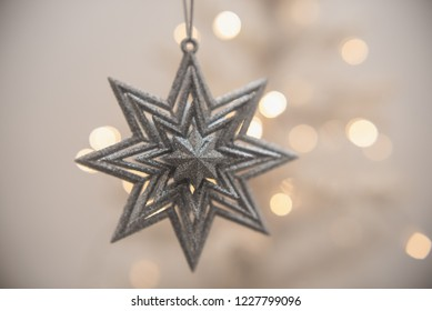 Christmas tree decoration, selective focus