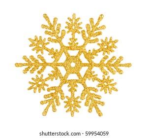Christmas tree decoration star isolated on white background