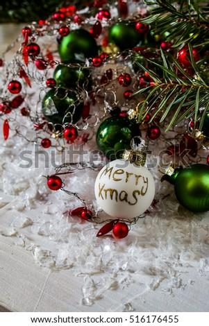 Christmas Tree Decorations Stockfoto Jetzt Bearbeiten 516176455