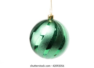 Christmas tree decorations ball on a white background