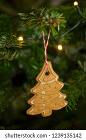 Christmas tree and Christmas decorations close up