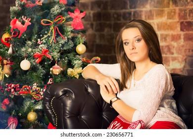 christmas, christmas tree, gifts, girl