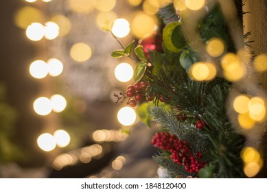 Christmas tree with gold blurred light background - Shutterstock ID 1848120400
