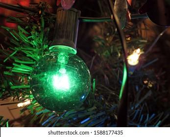 Christmas Tree Green Blinking Light