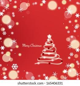 Christmas Tree Holiday Background