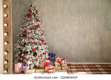 Christmas Tree House Interior new year holiday gifts winter