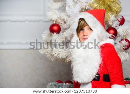 Christmas Tree Ideas Kids Boy Kid Stock Photo Edit Now 1237510738