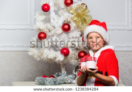 Christmas Tree Ideas Kids Boy Kid Stock Photo Edit Now 1238384284