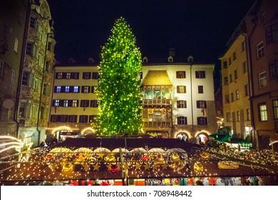 Christmas tree in Innsbruck, Austria