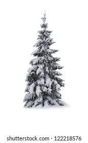 Christmas Tree - Isolated on white background