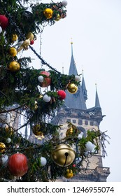 Christmas tree light in Prague