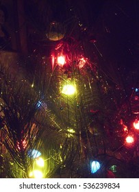 Christmas tree with lightings