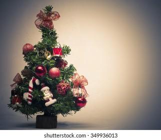 Christmas tree - lights and Christmas decorations
