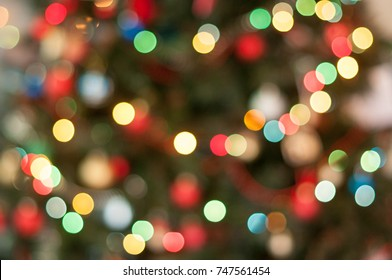 Christmas tree in lights- soft focus and bokeh