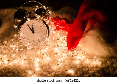 Christmas tree, lights, watches