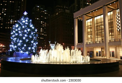 Christmas tree at Lincoln Center