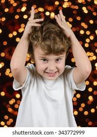 Christmas tree - little boy