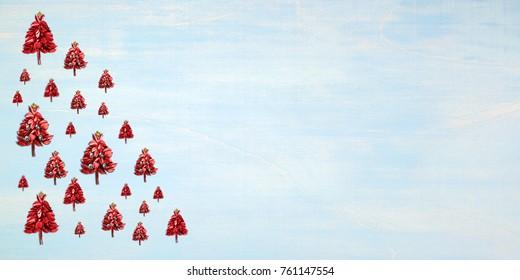 Christmas / Christmas tree made of leaves