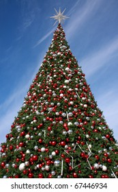 Christmas tree at National Harbor on the Potomac River near Washington DC.
