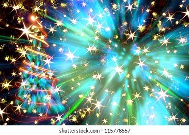 christmas tree from the xmas lights (play with the light) | EZ Canvas