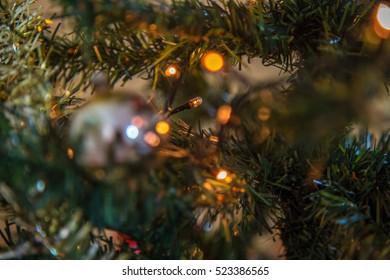 Christmas tree ornament blur