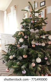 Christmas tree with pastel colors