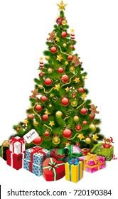 Christmas Tree with Presents around