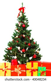 Christmas tree with presents and gifts
